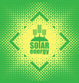 concept of green energy with solar panels vector image