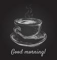 hand drawn sketch coffee cup vector image vector image