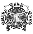 wild west engraving vector image vector image