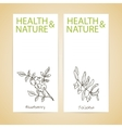 Banner Set - Health and Nature vector image vector image