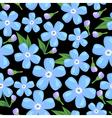 myosotis pattern black vector image vector image