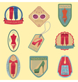 Set of vintage fashion and clothes style logos vector image