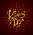 Happy valentines day glitter gold lettering vector image vector image
