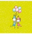 happy children on party design vector image