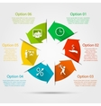 Arrows circle infographic vector image