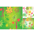 Green floral seamless backgrounds vector image vector image