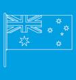 australian flag icon outline style vector image