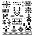 Aztec tribal ethnic elements vector image