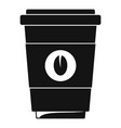 coffee plastic cup icon simple black style vector image