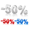 discount symbol fifty percentage vector image