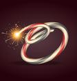 diwali burning crackers vector image