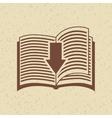 e-book download design vector image