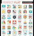entertainment complex flat icon concept vector image