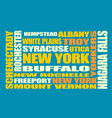 new york state cities list vector image