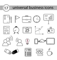 Set of Universal Business Icons vector image