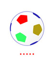 soccer ball it is icon vector image