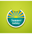 Summer holiday sticker vector image