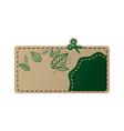 card eco green vector image