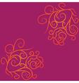 Colorful grunge flourish background vector image
