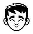 Kid cute face cartoon icon vector image