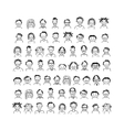 People icons sketch for your design vector image vector image