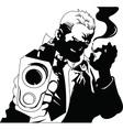 Femme fatal cartoon vector image vector image