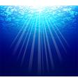 Blue sea underwater vector image
