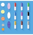 Set of Different Colorful Pills vector image