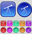Telescope icon sign A set of twelve vintage vector image
