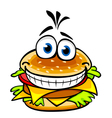 Appetizing smiling hamburger vector image vector image