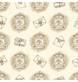 Seamless Pattern with Envelopes Letters vector image