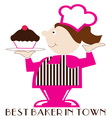 Best Baker vector image
