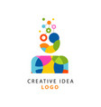 colorful logo design with abstract geometric vector image