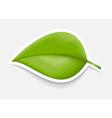 Green Leaf Sticker Design template vector image