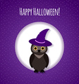 Halloween card or background with owl vector image