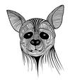 Hyena animal sketch tattoo symbol vector image