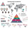 Infographics elements set Pyramid chart world vector image