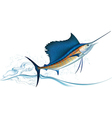 Jumping sailfish vector image