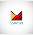 shape business construct logo vector image