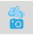cloud technology camera image media icon vector image
