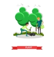 Planting gardening concept in vector image vector image