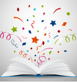 open book with ribbon vector image