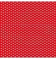 Red vintage seamless pattern from white hearts vector image