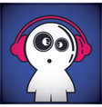 Funny boy with headphones vector image vector image