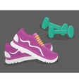 Gym and Fitness design vector image