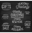 slogans chalkboard christmas vector image