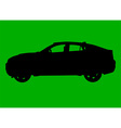 Sport utility vehicle silhouette vector image vector image