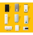 Boiler flat icons vector image