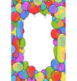 frame from balloons vector image