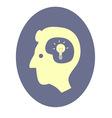 Head with idea vector image